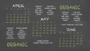A three-month agricultural calendar