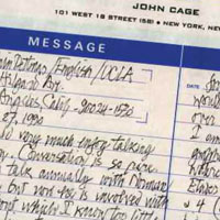 My Pen Pal, John Cage