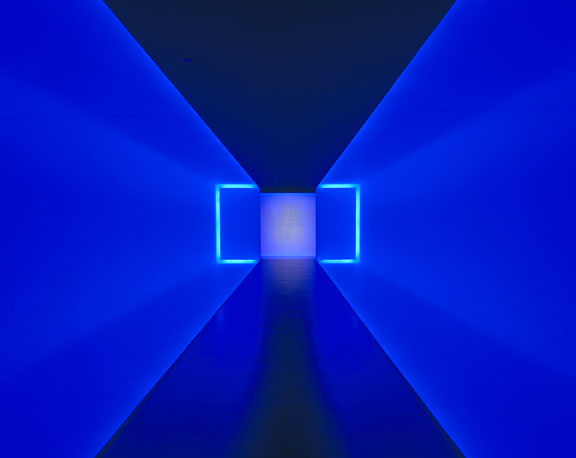 James Turrell's The Light Inside, created with neon and ambient light, at the Museum of Fine Arts, Houston. © James Turrell
