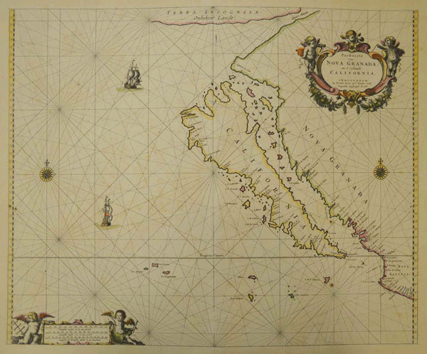 1600s map of California  from Honnold-Mudd Library Special Collections.