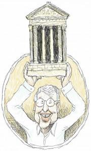 Illustration of Professor Emeritus Jud Emerick