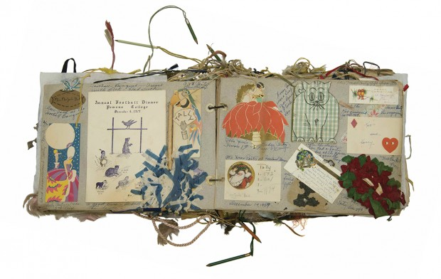 Photo of the Marjorie Maude Bell '28 Scrapbook from the Pomona College Archives