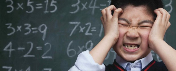 A student frustrated with math