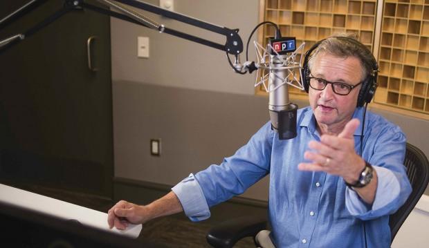Joe Palca at the radio microphone