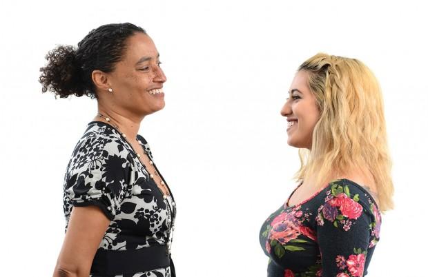 Neuroscience Professor Nicole Weekes and Vivian Carrillo '16