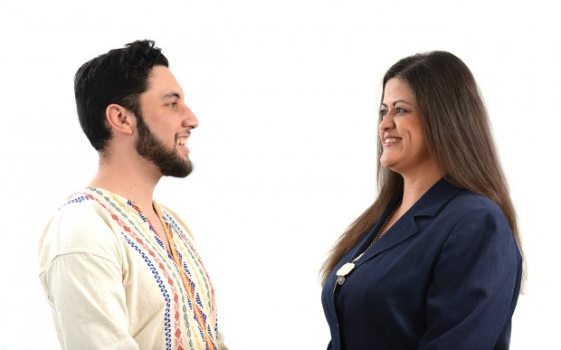 Cesar Meza '16 and Draper Center Director Maria Tucker