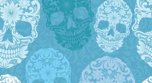 Floral-skull pattern