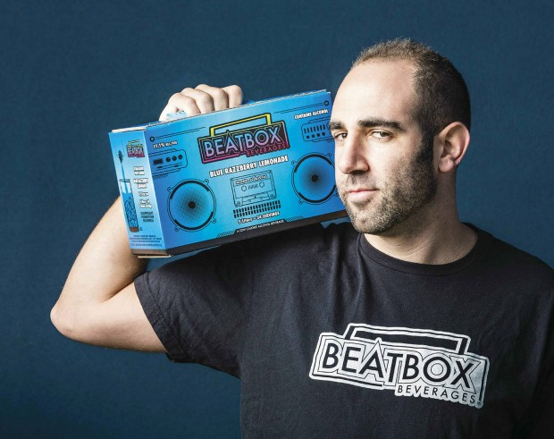 Justin Fenchel with a BeatBox cocktail box