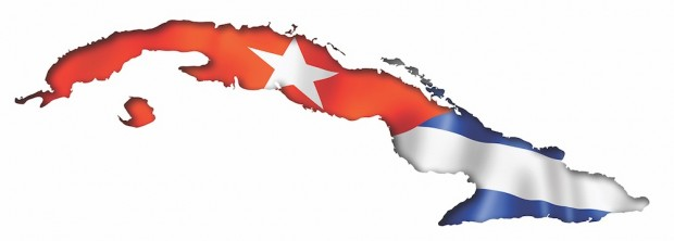 Cuban flag map