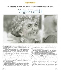 Virginia and I article