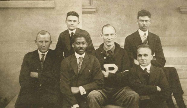 Pomona's 1919 Debate Club, including Arthur Williams 1919 (front row, second from left). The College's second Black graduate, Williams would go on to become a physician in White Plains, New York.