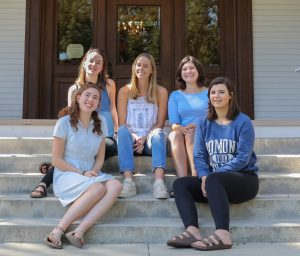 Pictured are: (top row, left to right) Frannie Sutton, Maia Pauley, Martha Castro, (bottom row, left to right) Claire Goldman and Lianna Semonsen.