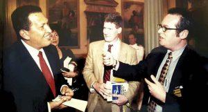 Gutkin interviewing Venezuelan President Hugo Chavez