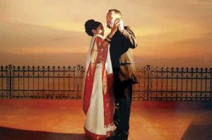 Gutkin with his wife, Marisha Dutt, on their wedding day in India