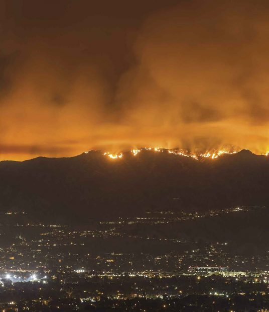 The 2017 La Tuna Fire in the hills above Los Angeles.