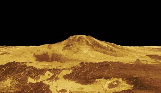 NASA image of Maat Mons