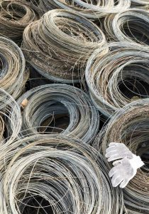 Miles of rolled wire