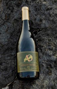 A bottle of 2016 Ancient Oak pinot noir