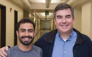 Eric Garcia '19 and Professor Chuck Taylor