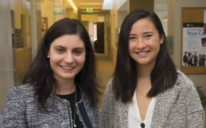 Professor Alexandra Papoutsaki and Caroline Chou (CMC '19)