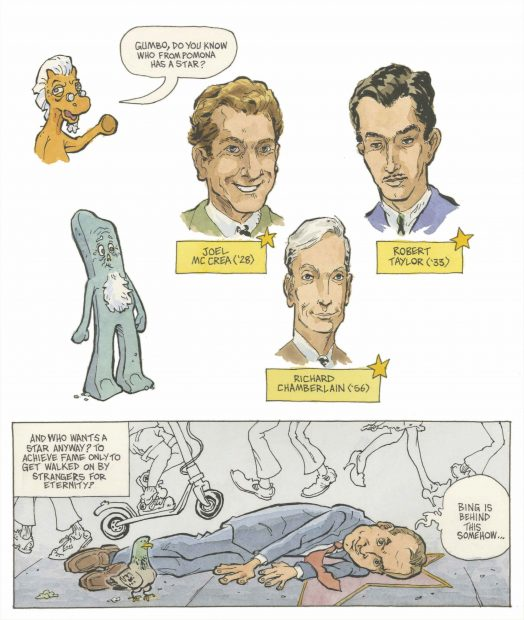 An original graphic story by illustrator and graphic novelist Andrew Mitchell '89. Link to full script available below.