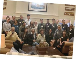 Alumni at a Winter Break party in Newport Beach, Calif.