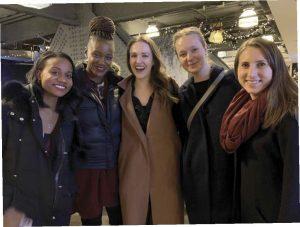Alumni at a Winter Break party in New York City.