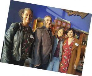 Alumni at a Winter Break party in Los Angeles