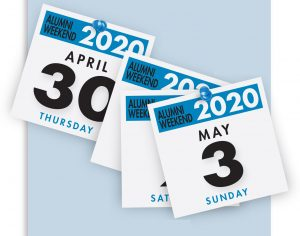 Alumni Weekend 2020, which will take place April 30 to May 3