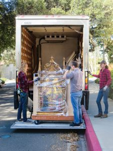 Some heavy or incredibly fragile items, such as Italian Renaissance panel paintings from the Kress Collection, were handled by professional fine art movers.